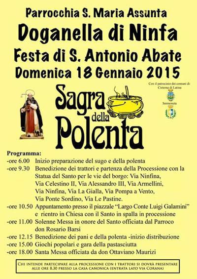 Sagra della polenta a doganella di ninfa 2015 cisterna di for Doganella di ninfa