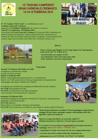 XXII Raduno 'Gran Carnevale Cremasco'