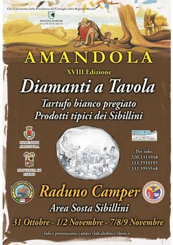 Raduno Camper Diamanti a Tavola